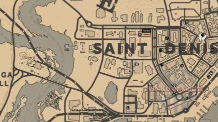 Tailor in Saint-Denis detailed map
