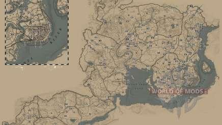 Cigarette card location map