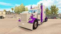 A pele Roxa E Cinza para o caminhão Peterbilt 38