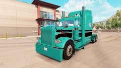 A pele azul-Turquesa preto para o caminhão Peter