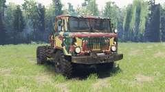 A cor é Verão camuflagem para a GAZ 66
