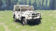 Cor de Inverno camo UAZ 469 para Spin Tires