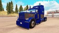 A pele Azul e Cinza para o caminhão Peterbilt 38