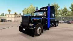 Pele Verde, Azul, Preto no caminhão Peterbilt 38