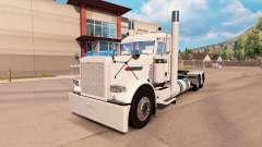 Morador da pele branca para o caminhão Peterbilt 389 para American Truck Simulator
