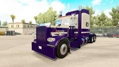 A pele Roxa Correr para o caminhão Peterbilt 389