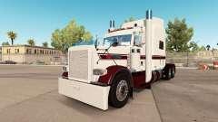 A pele Branca de Borgonha no caminhão Peterbilt