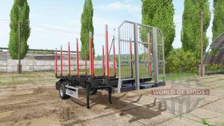 Timber trailer Fliegl para Farming Simulator 2017
