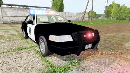 Ford Crown Victoria highway patrol para Farming Simulator 2017