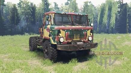 A cor é Verão camuflagem para a GAZ 66 para Spin Tires