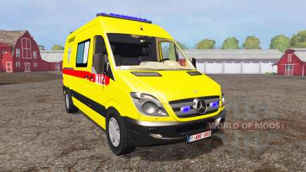 Mercedes-Benz Sprinter 311 CDI Ambulance para Farming Simulator 2015
