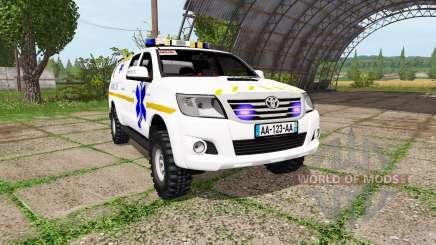 Toyota Hilux SAMU para Farming Simulator 2017
