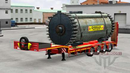 Kassbohrer with cargos para American Truck Simulator