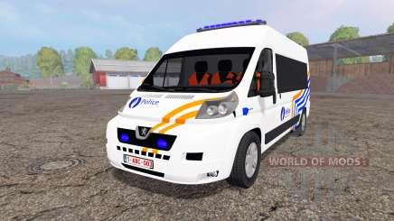 Peugeot Boxer Police vitre para Farming Simulator 2015