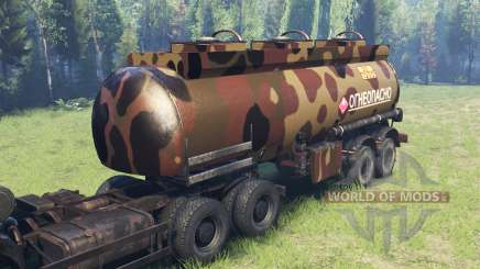 Cor de camo do Deserto do tanque de combustível para Spin Tires