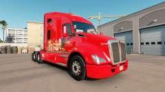 Pele La Costena no trator Kenworth T680 para American Truck Simulator