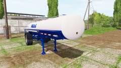 Milk tank semitrailer