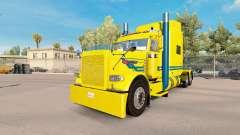 Blue streak da pele para o caminhão Peterbilt 38