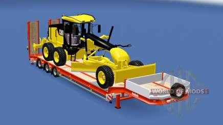 Semitrailer Caterpillar 140M v1.1 para Euro Truck Simulator 2