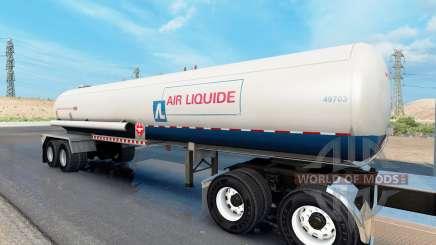 Real company tanker trailers para American Truck Simulator
