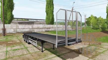 Fliegl flatbed trailer autoload v5.0 para Farming Simulator 2017
