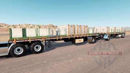 Double trailer para American Truck Simulator