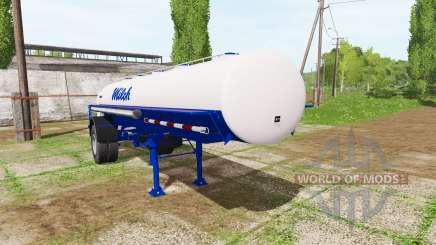 Milk tank semitrailer para Farming Simulator 2017