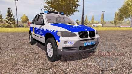 BMW X5 4.8i (E70) serbian police para Farming Simulator 2013