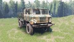 GAZ 66 cabine dupla para Spin Tires