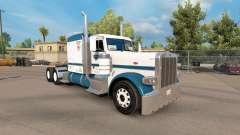 Скин Tio D Logística v1.1 на Peterbilt 389 para American Truck Simulator