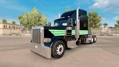 Pele de Menta Verde e Preto para o caminhão Pete