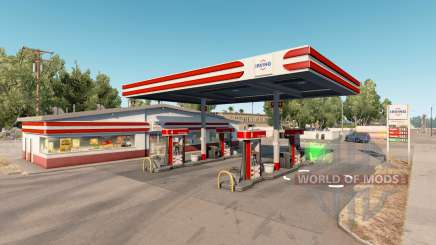 Real gas stations v1.2 para American Truck Simulator