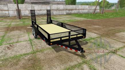 Platform trailer with sides para Farming Simulator 2017
