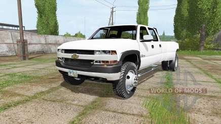 Chevrolet Silverado 3500 Crew Cab Dually 2001 para Farming Simulator 2017