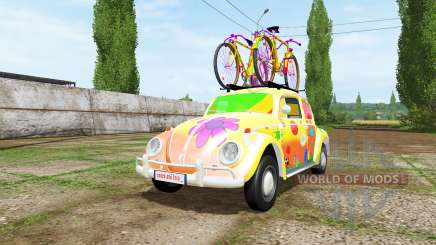 Volkswagen Beetle 1966 peace and love v2.0 para Farming Simulator 2017