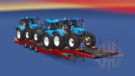 Semitrailer New Holland T6.160 para Euro Truck Simulator 2