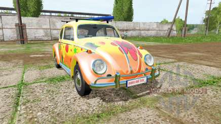 Volkswagen Beetle 1966 peace and love para Farming Simulator 2017