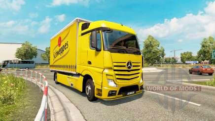 Tandem truck traffic v1.2 para Euro Truck Simulator 2