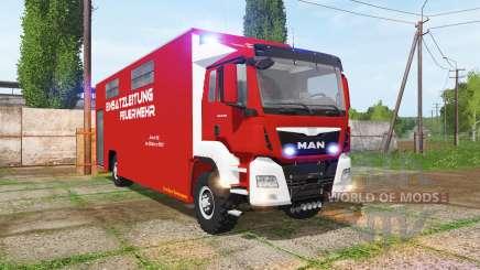 MAN TGS Feuerwehr-Einsatzleitung para Farming Simulator 2017