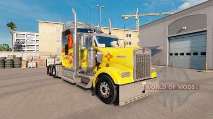 A pele do Novo México no caminhão Kenworth W900 para American Truck Simulator