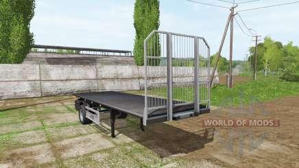 Fliegl short flatbed trailer para Farming Simulator 2017