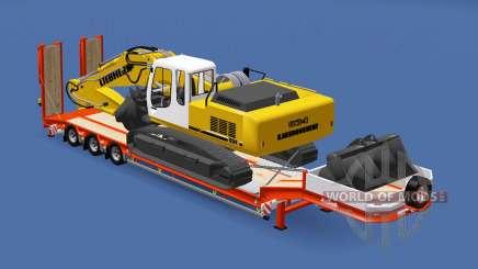 Semitrailer Liebherr R 934 v1.1 para Euro Truck Simulator 2