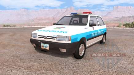 Fiat Uno hungarian police para BeamNG Drive