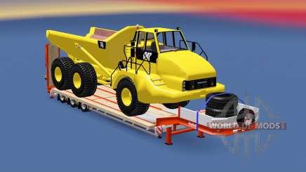 Semitrailer Caterpillar 740 para Euro Truck Simulator 2