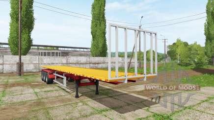 BsM bale semitrailer para Farming Simulator 2017