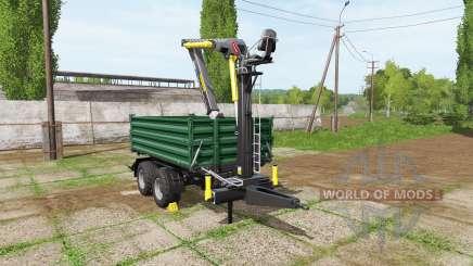 Fliegl timber trailer para Farming Simulator 2017
