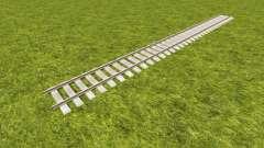 Um conjunto de trilhos ferroviários
