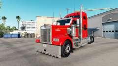 A Pele Vermelha. Ouro e Preto em um caminhão Kenworth W900 para American Truck Simulator