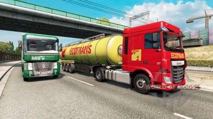 Painted truck traffic pack v2.5 para Euro Truck Simulator 2