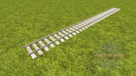 Um conjunto de trilhos ferroviários para Farming Simulator 2017